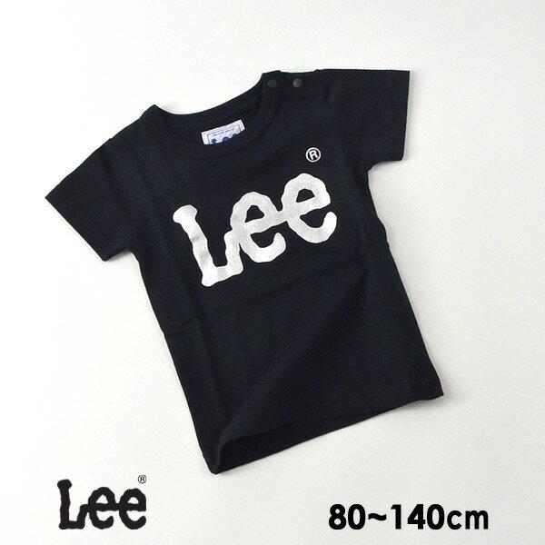 【メール便可】リー 9186378-14M シルバーロゴTシャツ キッズ ベビー トップス 半袖 カットソー ブランドロゴ シンプル カジュアル ユニセックス おそろい 子供服 Lee 4020637