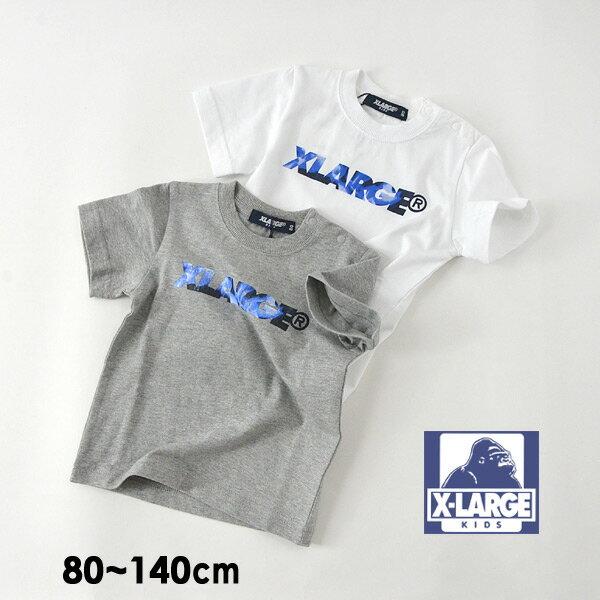 【メール便可】エクストララージキッズ 9492215-14M XLARGEロゴ半袖Tシャツ キッズ ベビー トップス 半袖 ロゴ シンプル アウトドア  子供服 XLARGE KIDS 4020786