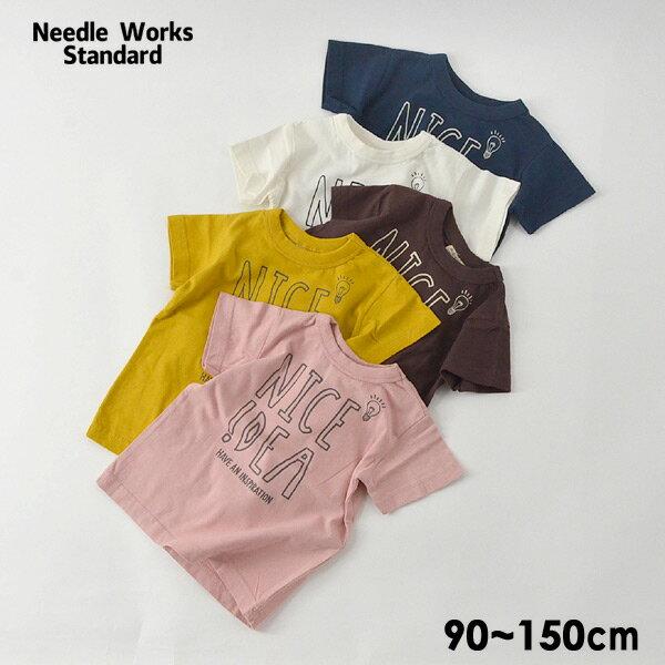 【メール便可】ニードルワークススタンダード 319001-15M Idea T-shirt キッズ ベビー トップス Tシャツ プリント 半袖 シンプル ロゴ 子供服 Needle Works Standard 4020912