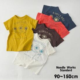 【50%OFF】【メール便可】ニードルワークススタンダード 319005-15M Sun Flower T-shirt キッズ ベビー トップス Tシャツ プリント シンプル 子供服 Needle Works Standard 4020914 19fn-t【SALEsaleセールバーゲン】