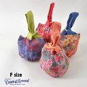 【メール便可】オーシャンアンドグラウンド 1915010-FM 浴衣チュール巾着 キッズ ベビー バッグ バック 花柄 総柄…