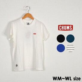 【メール便可】チャムス CH11-1326-WL(M) Booby Logo T-Shirt ブービーロゴTシャツ レディース トップス 半袖 ブービーバード バックプリント ワンポイント アウトドア CHUMS 2002455