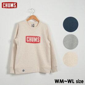 【メール便不可】チャムス CH10-1145-MG Logo Crew Top Sweat Shirt ロゴクルートップスウェットシャツ レディース トップス 長袖 トレーナー 裏起毛 アウトドア CHUMS 2002490