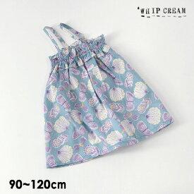 【メール便可】ホイップクリーム 302005-m12m ちょうちょ柄2wayワンピ トップス キッズ トップス ボトムス ワンピース キャミワンピ サンドレス スカート 総柄 日本製 女の子 子供服 WHIP CREAM 4022406