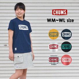 【メール便可】チャムス CH11-1324-WL(M) CHUMS Logo T-Shirt/チャムスロゴTシャツ レディース トップス 半袖Tシャツ プリント ロゴ アウトドア 無地 ロゴT ブランドロゴ CHUMS 2002417 oso-2s