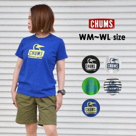 【メール便可】チャムス CH11-1325-WL(M) Booby Face T-Shirt レディース トップス 半袖 ブービーフェイス ロゴ Tシャツ 半袖 アウトドア CHUMS 2002418 zai0