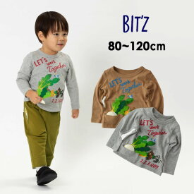 【メール便可】ビッツ B406070-m12m かぶpt長袖Tシャツ キッズ ベビー トップス 長袖 ロンT プリント 大きなかぶ 子供服 Bitz 4023017