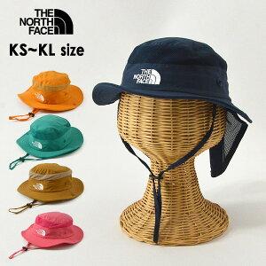 【メール便不可】ノースフェイス NNJ02007-MG Kids Camp Sunshield Hat/キッズキャンプサンシェールドハット キッズ 帽子 ぼうし ボウシ 無地 シンプル あごストラップ付 日よけ 男の子 女の子 子供 THE