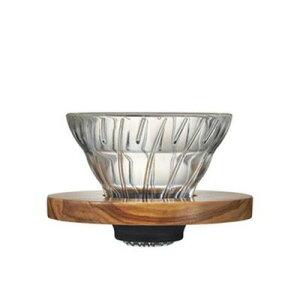 HARIO ハリオ V60耐熱ガラス透過ドリッパー01 オリーブウッド【RCP】【VDG-01-OV】【キャッシュレス 還元 対象店】