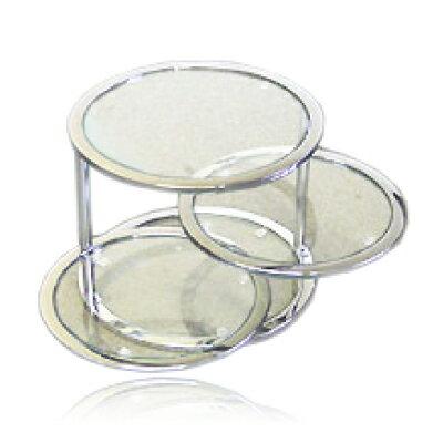 【送料無料】グラスタワーテーブル スイングテーブル(強化ガラス使用ラウンドテーブル)【RCP】【GT-45 T-45】