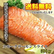 スモークサーモンスライス500g【パスタ】【サラダ】【マリネ】【寿司】
