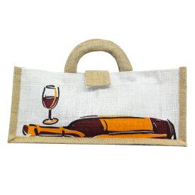 【送料無料】【1000円ポッキリ!】麻ワインバッグ1本用横型