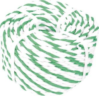TRUSCO標識繩索3個打7.5mm*100m白、綠銷售學分:1卷(進入數量:-)JAN[4989999333800](TRUSCO標識繩索)TRUSCO中山株式會社