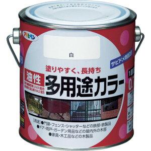 アサヒペン 油性多用途カラー 0.7L 白【536617】 販売単位:1缶(入り数:-)JAN[4970925536617](アサヒペン 塗料) (株)アサヒペン【05P03Dec16】