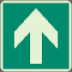 ユニット 床面誘導標識 矢印 蓄光 300×300mm 合成樹脂【82911A】 販売単位:1枚(入り数:-)JAN[4582183901221](ユニット 非常用標識) ユニット(株)【05P03Dec16】