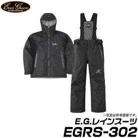 (c)【取り寄せ商品】 エバーグリーン E.G.レインスーツ (EGRS-302) (カラー:ブラック/ブラック) (サイズ:S-3L) /Ever Green