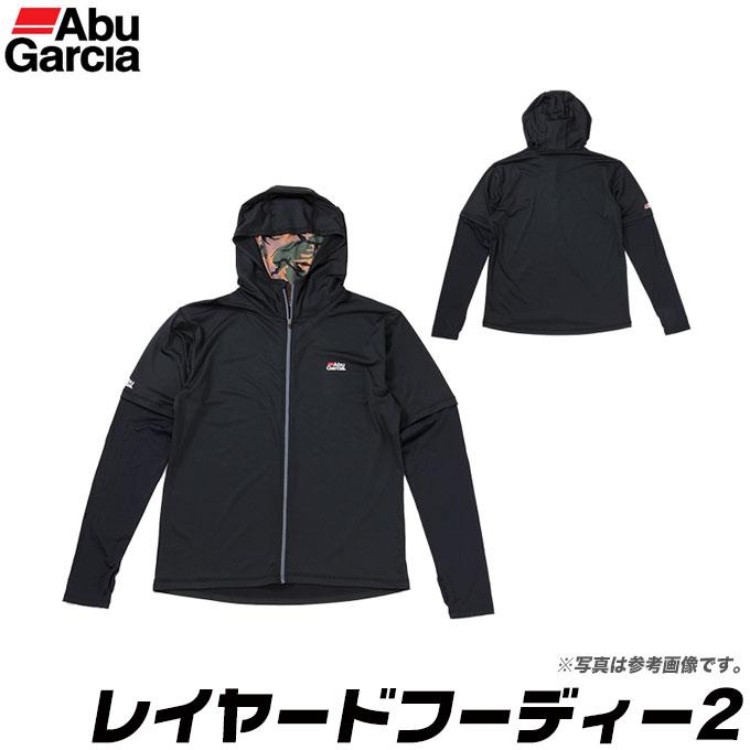 (5)アブガルシア レイヤードフーディー2 (カラー:ブラック) /吸汗速乾/抗菌防臭/UVカット/紫外線対策/ラッシュガード/インナー/ミドラー/フード付き/衣類/1s6a1l7e-wear