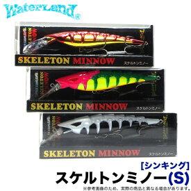 (5)ウォーターランド スケルトンミノー S (シンキング) (サイズ:95mm / 重さ:16g) /ミノー/ルアー
