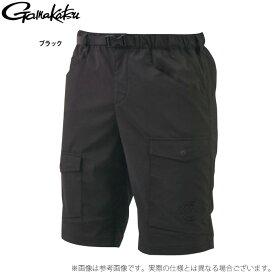 (c)【取り寄せ商品】 がまかつ ドライカーゴショーツ LE4003 (カラー:ブラック) (2021年春夏モデル)