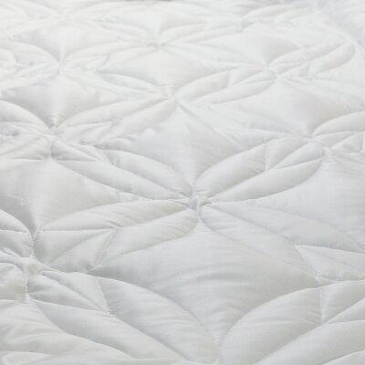 Rebreana(リブレナ)J-classトリートメント(R)ケット洗える薄掛ふとんシングルロング(150×210cm)ホワイトロゴパターン柄TAKEUCHIキルト加工8か所カバー用ループ付詰め物植物由来繊維テンセル100%(0.5kg)ふとんがわポリエステル70%・テンセル30%(ジャカード)