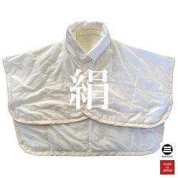 丸三綿業肩当て洗える群馬シルク100%約55×68cmホワイト詰め物絹100%(群馬シルク)(30g)側生地綿(スーピマ天竺)100%