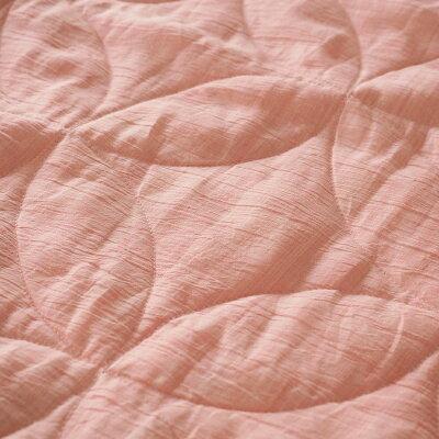 丸三綿業日本製和柄文様洗える麻敷パッド七宝薄紅クイーンASP1644BPI-Q4580584121873