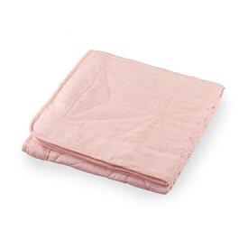 和柄文様 洗える麻敷パッド 麻乃葉 薄紅 シングル ASP1644API-S 麻寝具 日本製 丸三綿業
