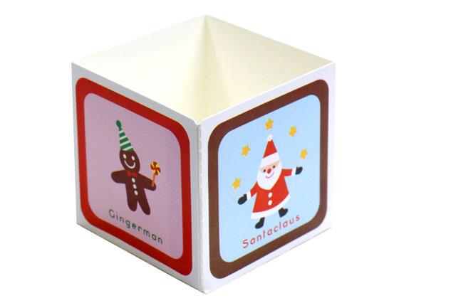 【クリスマス】キューブカップ スイートキャラ(60mm)10枚【紙製カップ】