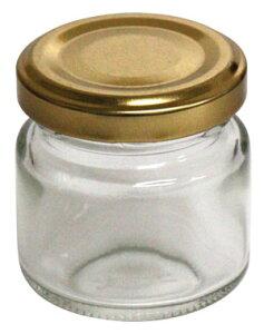 ミニジャム瓶 (金キャップ付き)