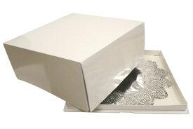 【デコレーションケーキ用ボックス】かぶせデコ箱尺寸ホワイト (底・フタ各2枚ずつ)※発送まで1週間程度お時間いただく場合あり