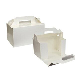 【ショートケーキ用ボックス】オープンロック(6×8)ホワイト 5枚入
