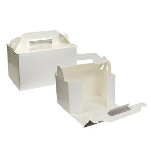 【ショートケーキ用ボックス】オープンロック(5×7)ホワイト 5枚入