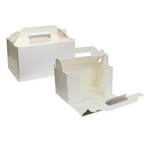 【ショートケーキ用ボックス】オープンロック(4×6)ホワイト 5枚入