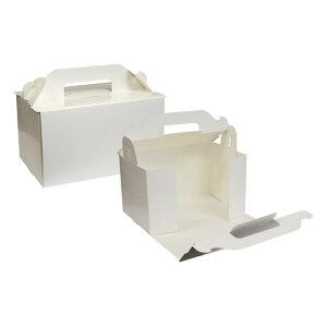 【ショートケーキ用ボックス】オープンロック(3.5×5)ホワイト 5枚入
