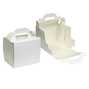 【ショートケーキ用ボックス】折オープンロック(3×4)ホワイト 5枚入
