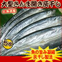【税コミ価格】北海道・大型さんまの灰干し・開き5枚セット<サンマ・干物>【業務用】【02P05Sep15】
