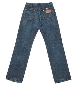 蘭格勒服裝W113-326 13MWZ牛仔·cut/深色藍色縫邊免費/牛仔褲/蘭格勒服裝/人/wrangler