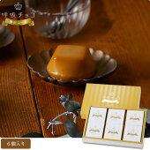 呼吸チョコ贅沢ムースプラリネ味6個入りチョコレートムースデザートアーモンドなめらか食感オリジナル製法個包装