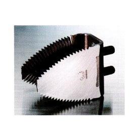 クボタコンバイン用 脱こく刃『スーパードラムカッター K-Type 両刃(クリア)』 両刃鋸目(ボルト付)〈品番11258〉[ナシモト工業製 ワラ切刃]
