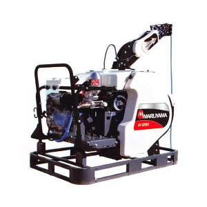 【MARUYAMA/丸山製作所】自走ラジコン動噴 『MS415R4CF-RV』 噴霧ホース Φ8.5×130m フォークリフト仕様[防除 動噴]