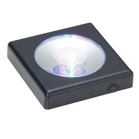 クリスタルパズル ディスプレイライト ブラック LED-002 ビバリー ++