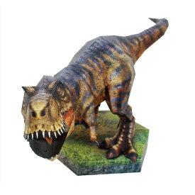 ハッピーペーパー ティラノサウルス 丸惣MJM-046 紙工作 ペーパークラフト 恐竜 送料無料 nc