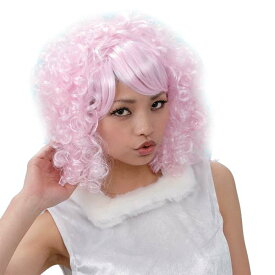7be28a2aabf750 エアリーカール ライトピンク 丸惣MJH130 パーティーグッズ WIG ウィッグ カツラ 宴会 変装 イベント nc