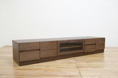 幅180テレビ台「ブロック」ウォールナット無垢