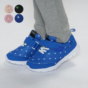 【子供服】 Kids Foret (キッズフォーレ) 花柄・星柄ジョギングシューズ・スニーカー・靴 15cm〜19cm