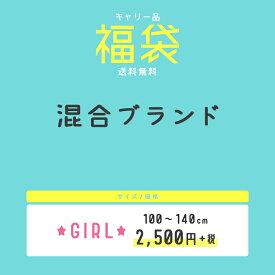 送料無料:ブランド混合女の子キッズ福袋 100cm 110cm 120cm 130cm 140cm 150cm 160cm 4点 \2750