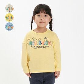 【子供服】 moujonjon (ムージョンジョン) ネット限定日本製動物ロゴ長袖Tシャツ 80cm〜140cm キッズ 男の子 女の子 ロンT M24873