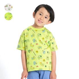 【子供服】 moujonjon (ムージョンジョン) ネット限定日本製動物アニマル総柄半袖Tシャツ 90cm 100cm 110cm 120cm 130cm 140cm キッズ 男の子 M44806
