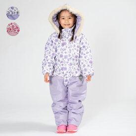 【子供服】 moujonjon (ムージョンジョン) お花柄スノーコンビ・スキーウェア 90cm〜120cm M62186