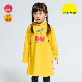 22%OFF価格:【子供服】 moujonjon (ムージョンジョン) ネット限定日本製のびのび裏毛チェリーワンピース 80cm〜140cm